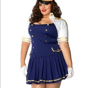 Admiral Sexy Sailor Halloween Costume 1x/2x Plus